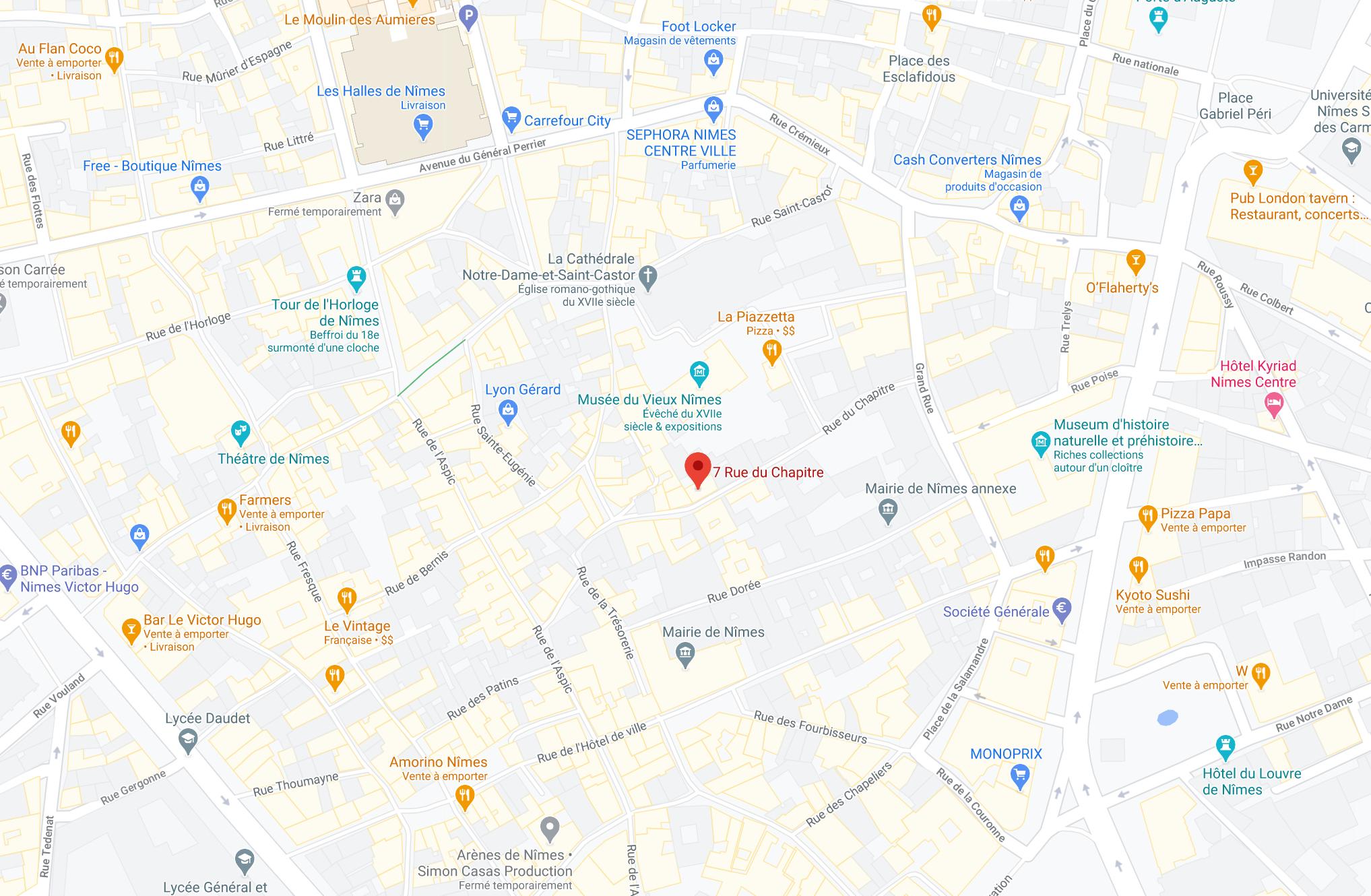 Adresse L'atelier de Léa 7 rue du chapitre 30000 Nimes